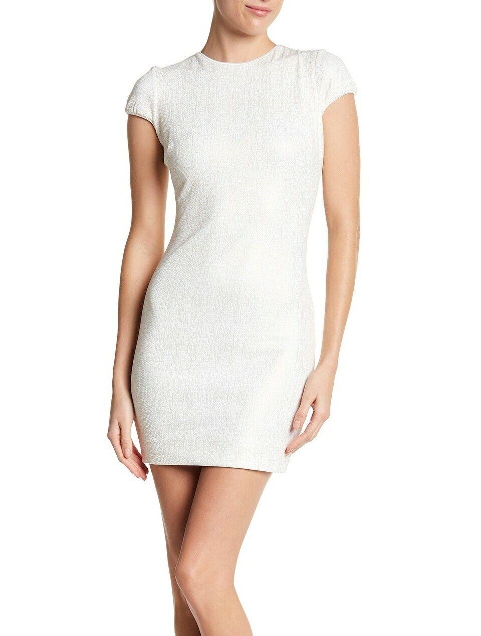 Dress the Population Josie Short Sleeve Dress Women's Sz. Small (Ivory) 152009