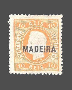 VINTAGE:MADEIRA-PORTUGAL 1868 UNU LH SCOTT 8 $90 LOT #1868X234A
