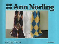 Entrelac Throw 3 Designs Knitting Instruction Patterns Ann Norling