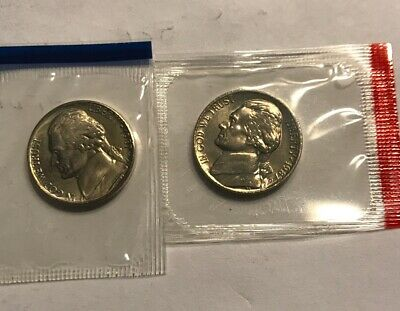 1996 P/&D JEFFERSON NICKELS from MINT SET in MINT CELLO with FREE SHIPPING