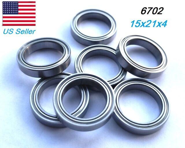 Thin Section Ball Bearing 10pcs 6700ZZ Miniature Bearing 10x15x4mm