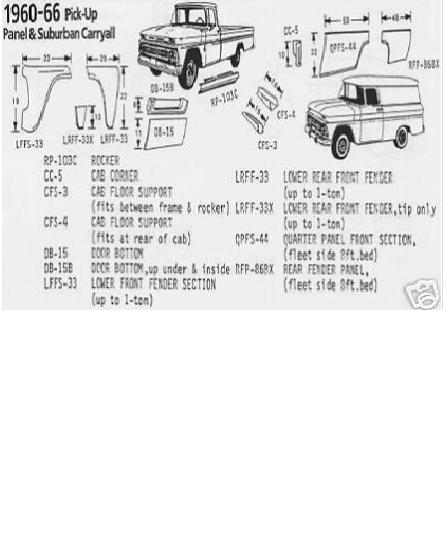 Rocker Panel 60-66 Chevy /& GMC Pickup Truck PAIR