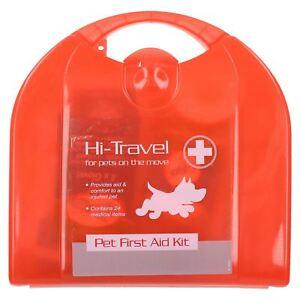 DernièRe Collection De Dog Pet Hi-travel 24pc Pet First Aid Kit Pour Fête Et Route Voyages-afficher Le Titre D'origine Blanc De Jade