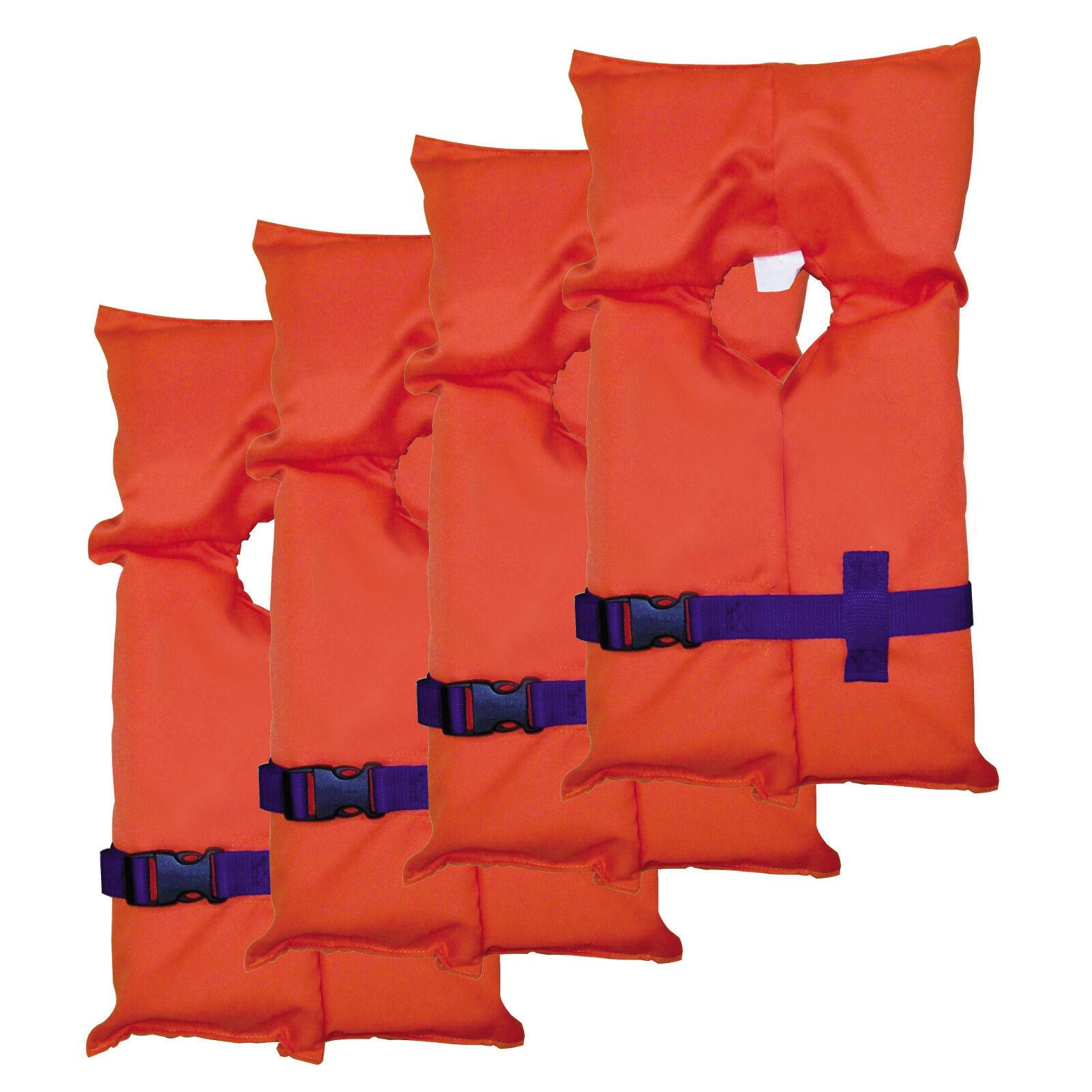 Stearns Adult Type II PFD orange Carry Bag Per 4 - 3000004482