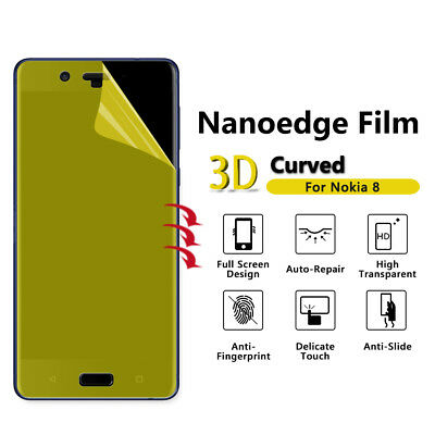 FleißIg 2x Tpu Full Edge Coverage Screen Protector Cover Anti Scratch For Nokia 8