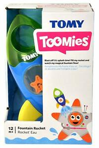 TOMY-TOOMIES-Bath-time-fun-Rocket-Ship-fountain-Water-play-for-age-12-mths