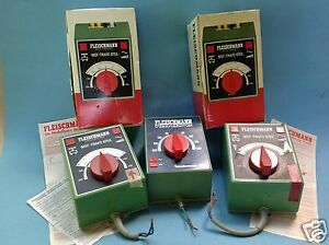 2) 3x Fleischmann Transformator Spur HO/00 Modelleisenbahn 6750, 6755 220 u 230V