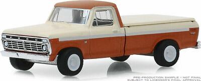 1//64 Greenlight 1973 Ford F-100 Pickup Truck Model 2-Tone Cream Orange 35140B