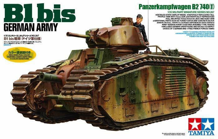 Tamiya 35287 - 1 35 WWII Dt. Pzkpfw B2 740(F)   B1 Bis - Neu    Neuartiges Design