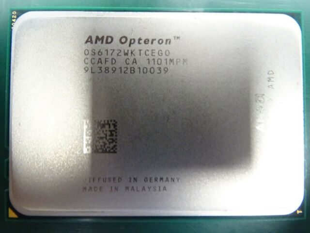4 x AMD Opteron Processor CPU 6172 OS6172WKTCEGO 2.1GHz 12 Core 80w JOB LOT