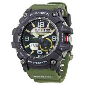 Casio-Men-039-s-Watch-G-Shock-Analog-Digital-Dial-Green-Resin-Strap-GG1000-1A3