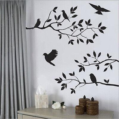 Home Decor DIY Art Wall Sticker Removable Mural Decal Vinyl Tree Birds Creative