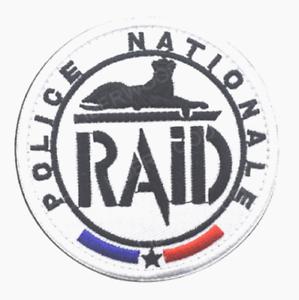 R.A.I.D Pol ice Nationale  écusson à coudre brodé 8 cm pour collection