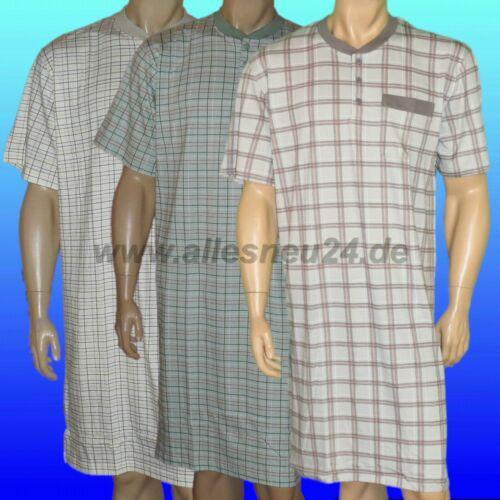 di conte in 2 colori TG. 54-60 Uomo Camicia da notte con 1//4 braccio COTONE