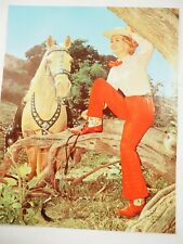 Pride of the West Cute Girl Vintage Calendar Color Litho Pin Up Art 8x 10
