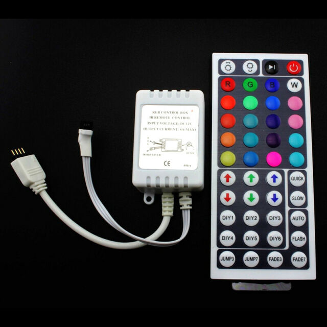 44Schlüssel-IR-Fernsteuerpult-Kasten DC12V für RGB LED 3528 5050 StreifenlichtAB