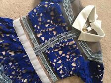 blue lace shirt dress wedding self turquoise indigo celebrity portrait style UK8