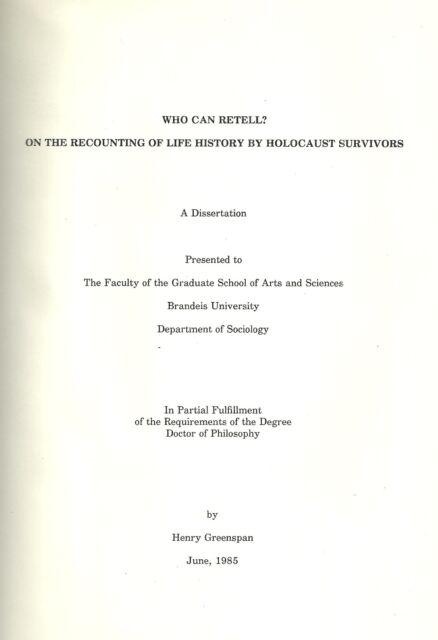 Greenspans phd thesis