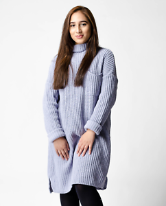ff29c6fcffef New ex ASOS Lilac Oversized Swing Dress With Top Pocket RRP £32 ...
