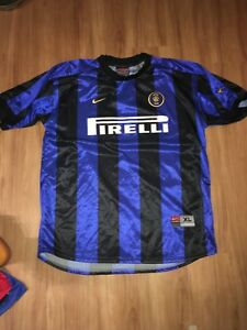new style d777c 55a4f Details about Vintage Nike Premier Inter Milan Jersey Mens XL