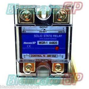 SSR RELÈ STATICO STATO SOLIDO AC-AC 25A MGR-1 A4825 24-480VAC 70-280VAC MAGER