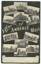 Views of Amherst MA Mass Vintage UDB Early 1900's Postcard