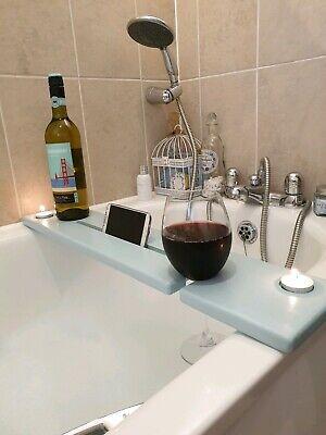 Wooden Bath Board Bath Caddy Shelf Board Tablet//Phone,Wine Glass//Can//Cup Holders
