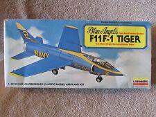 MIB 2007 Lindberg Blue Angels F11 F-1 Tiger Model Plane Kit #70542