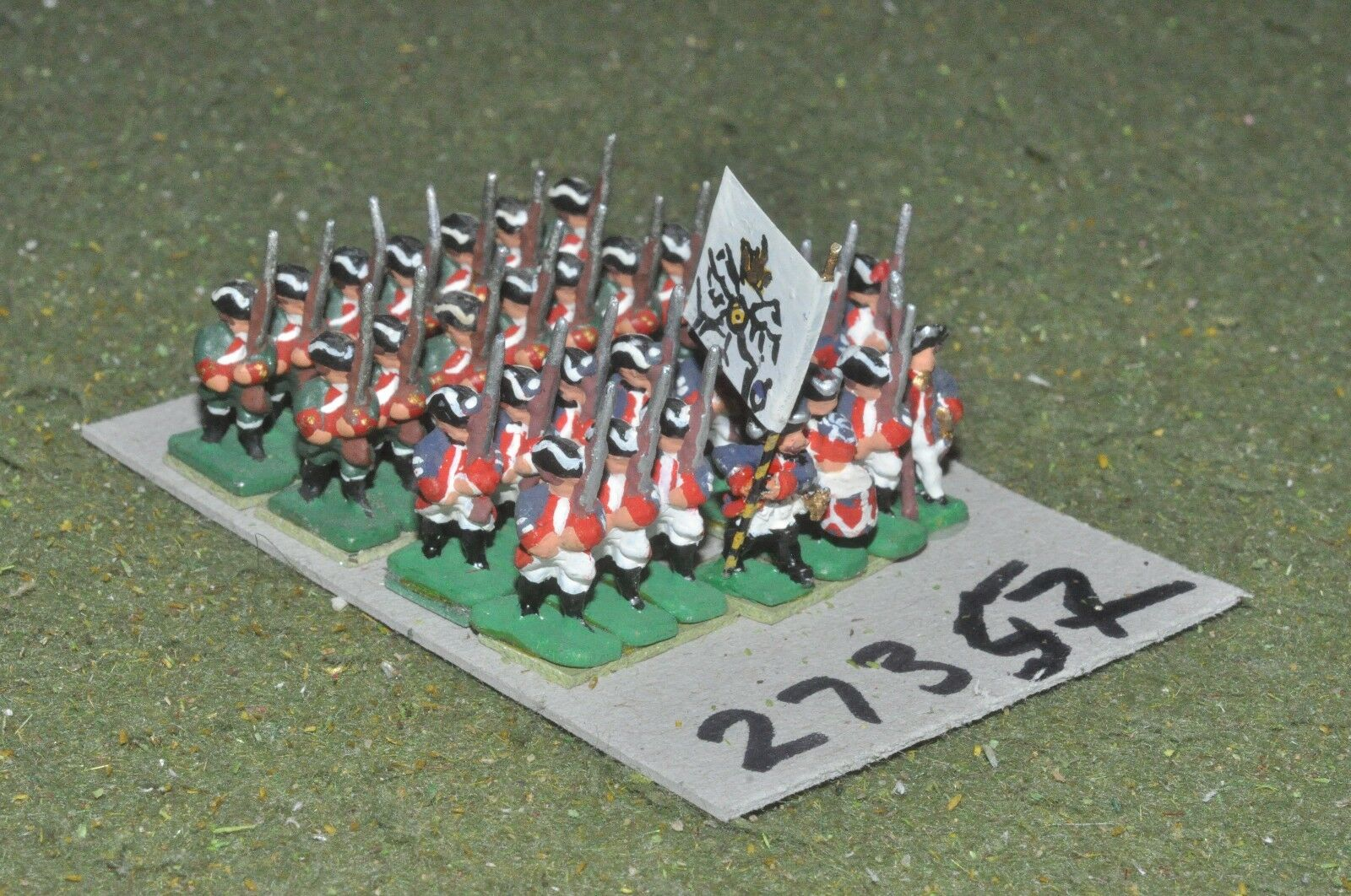 15mm 15mm 15mm 7YW   prussian - 2 regiments 28 figures - inf (27357) 64829a
