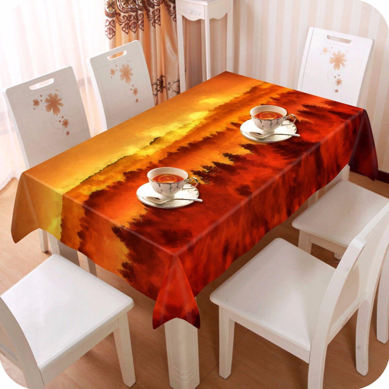 3D Sunset 46 Nappe Table Cover Cloth fête d'anniversaire AJ papier peint Royaume-Uni Citron