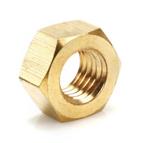 Solid Brass Hexagon Hex Nuts M2//M2.5//M3//M4//M5//M6//M8//M10//M12//M14//M16//M18//M20//M24