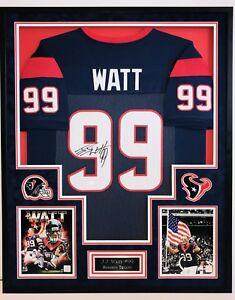 04de15b3152 J.J. WATT #99, HOUSTON TEXANS, AUTOGRAPHED FRAMED JERSEY JSA/COA | eBay