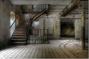 image is loading 9 foot haunted stairwell wall mural halloween scene - Halloween Wall Mural