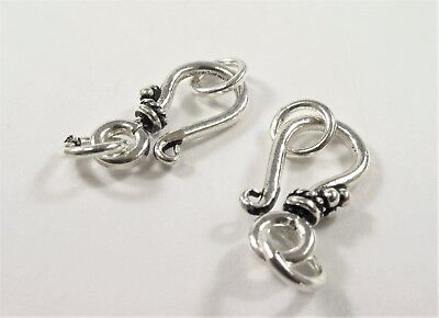 10 X 19 Mm 925 Sterling Silver Hook, Bali Style Silver Finding Clasp (#438) Een Unieke Nationale Stijl Hebben