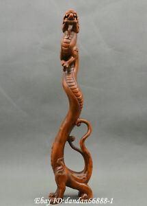 Chinese-boxwood-Hand-carve-ancient-god-beast-dragon-auspicious-animal-statue