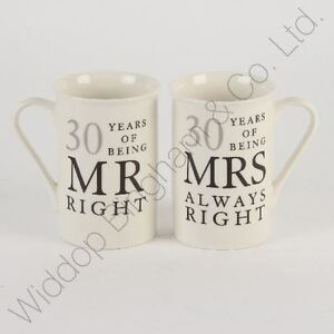 30th Wedding Anniversary Gift Ideas For Friends : ... Occasions > See more 30th Pearl Wedding Anniversary Mugs Gift Set W