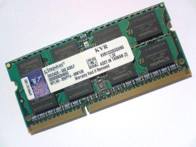 8GB DDR3-1333 PC3-10600 1333Mhz KINGSTON KVR1333D3N9/8G 1.5V LAPTOP RAM MEMORY