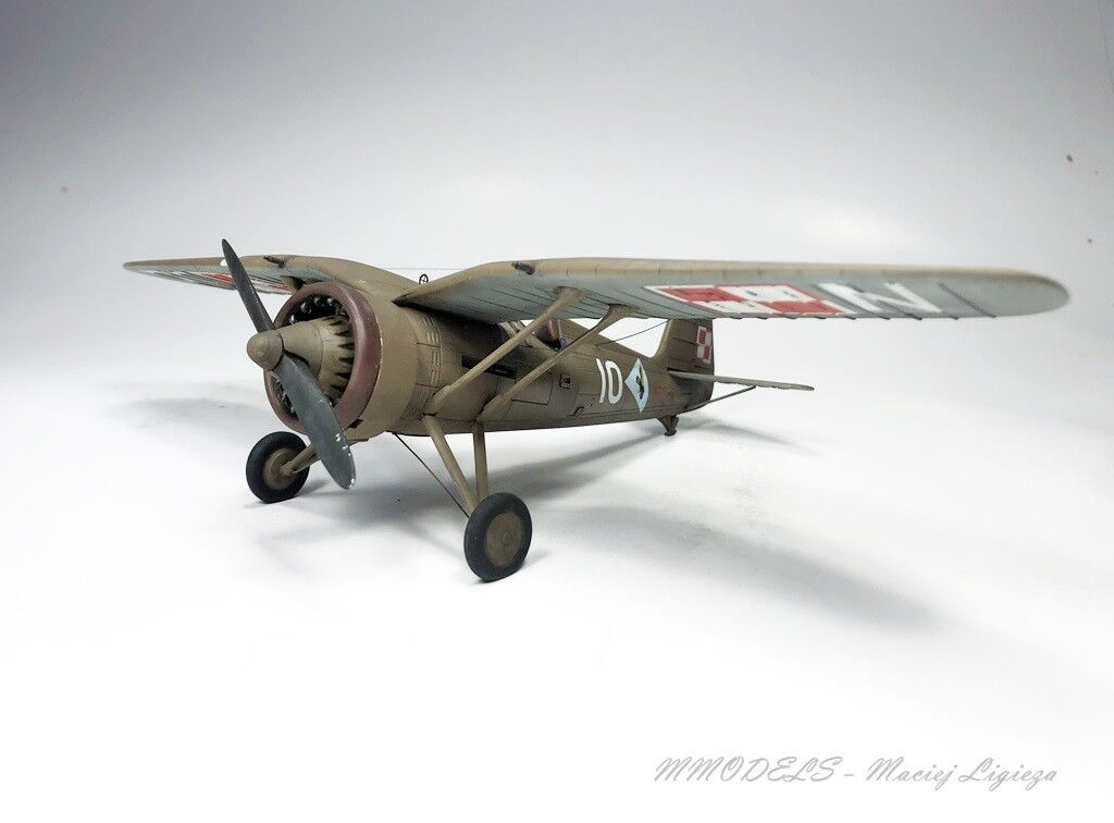 WW2 Polish PZL P.11C -  1 48 - built and painted