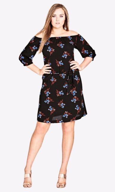 City Chic Tie Waist Dress Size XL
