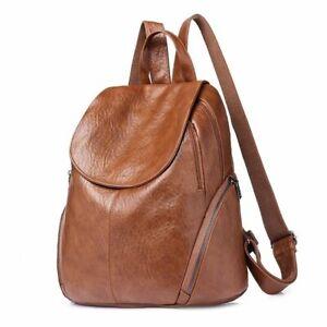 Women-Backpack-Fashion-Style-elegant-Faux-Leather-Shoulder-Bag-Casual-Rucksack