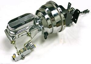 "67-72 Chevy Truck c10 Suburban 8/"" Chrome Brake Booster Master Cylinder DISC//DISC"