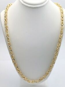 14k yellow gold solid turkish style link chain necklace 24 38g 5mm