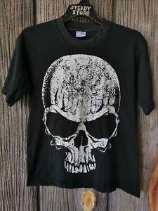 Vintage Skull Graphic Distressed Tshirt Skeleton Dragon