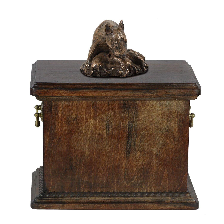Bull Terrier tipo 4 - urna di legno con l'immagine di un cane Art Dog IT