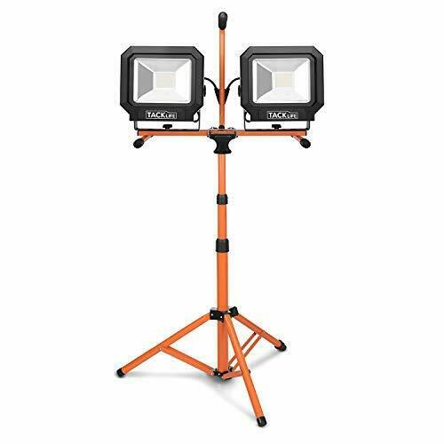 Tacklife 10000 Lumen Tripod LED Work Light with Two-Head Total 100W Work Lights,