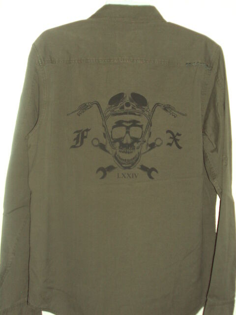 65 FOX RACING MILITARY MOTOCROSS Uomo REVERB MILITARY RACING CASUAL SHIRTS H55 6bcf29