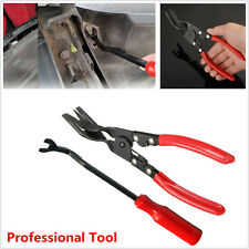 2x Car Door Card Panel Trim Clip Removal Pliers & Uphostery Pry Remove Bar Tools