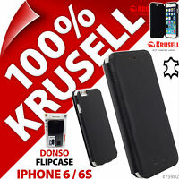 New Krusell Donso GENUINE LEATHER Flip Case Cover Wallet For Apple iPhone 6 / 6S