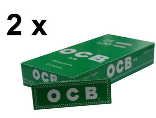 1//10//25//50 pcs 50 Sheets//Booklet OCB Green Rolling Papers standard size