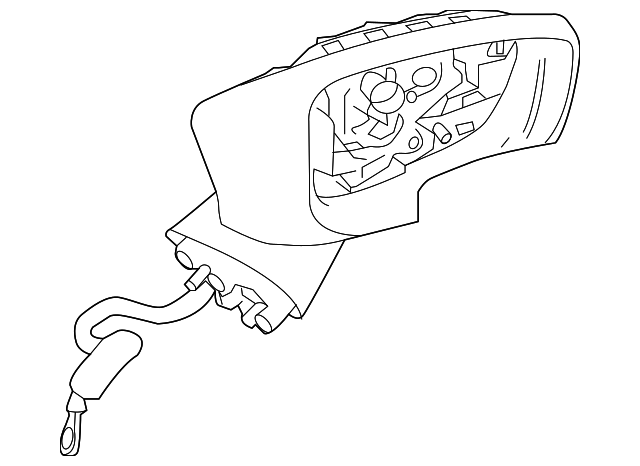 cciyu Black Right Side View Mirror Power Adjustment Turn Signal Manual Folding Door Mirror Fits for 2016 2017 2018 Toyota Yaris 2017 2018 Toyota Yaris iA 2016 Scion iA